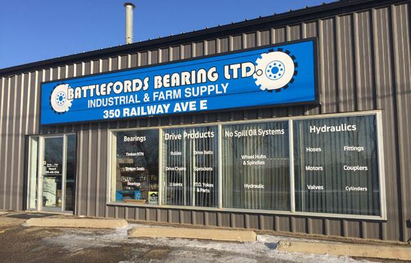 Battlefield Bearings sign